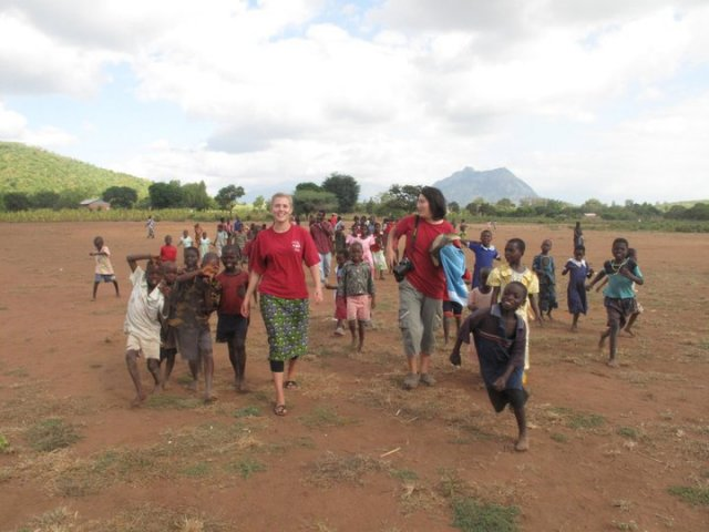 outreach teams with the kids