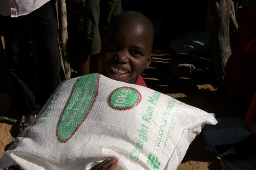 Food distribution inthe hunger months of January & Febuary is a lifeline for many like this orphan